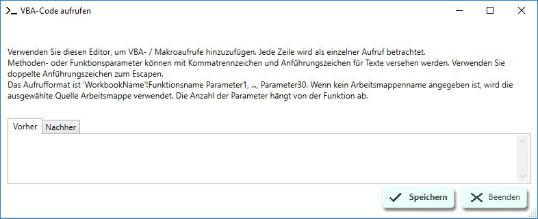 SlideFab 2 VBA-Code aufrufen