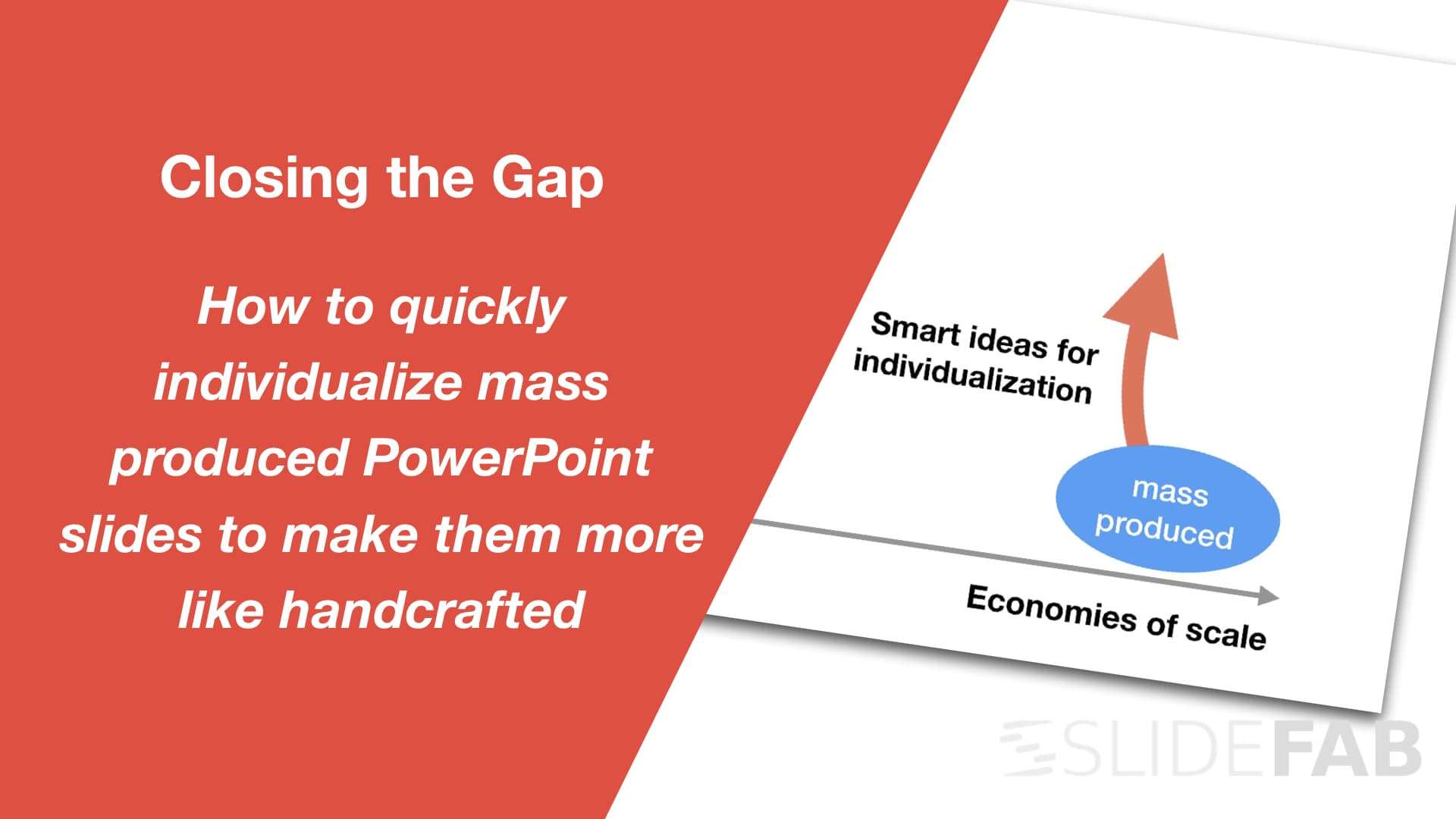Creating customized story flows in PowerPoint slide and presentation mass production