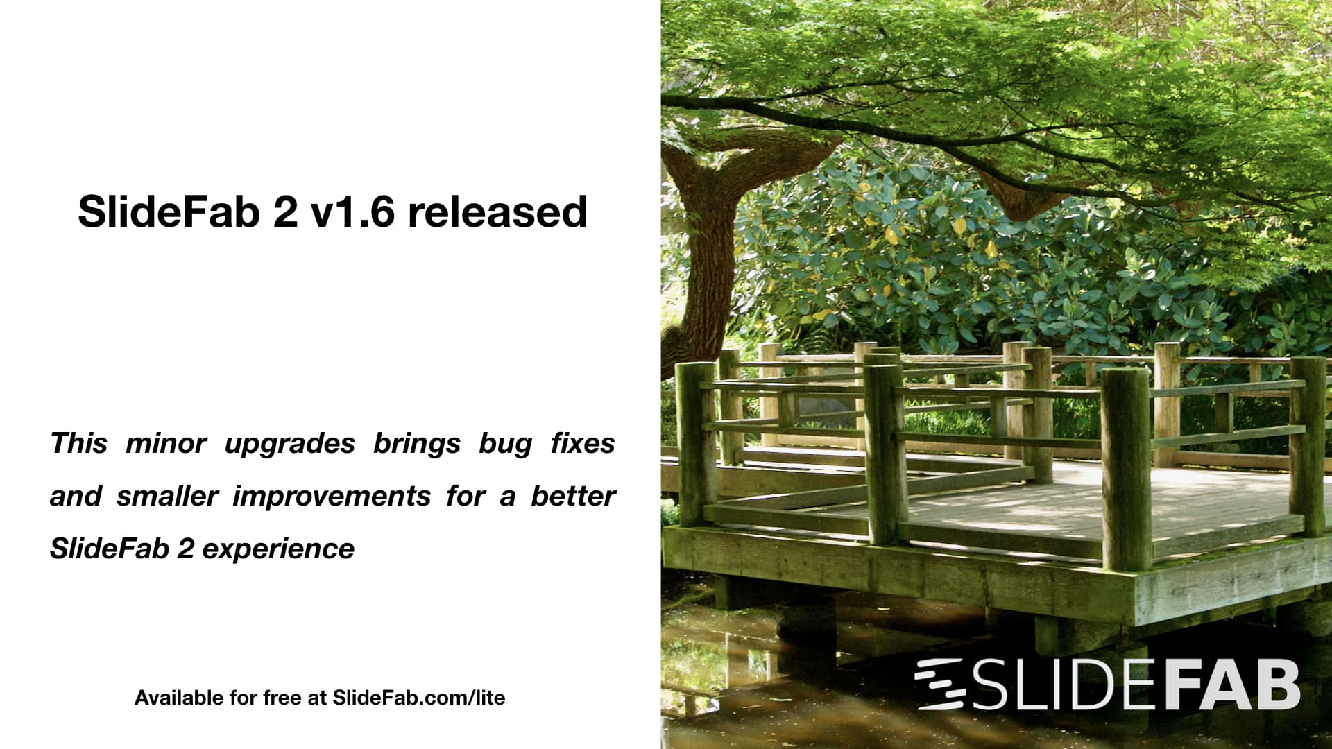 SlideFab 2 minor update available now