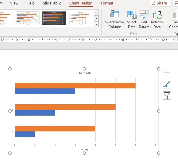 Export Mode Linked Chart Target