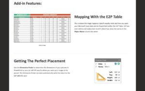 Excel to PowerPoint automation using a control table with E2P add-in